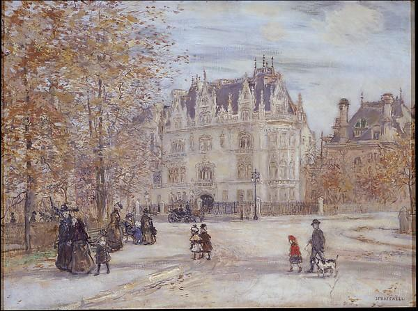 The Fletcher Mansion, New York City, 1899 by Jean-François Raffaelli (1850-1924, France) | Oil Painting | WahooArt.com