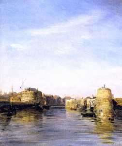 Jean Antoine Théodore De Gudin - Entry to the Port of Le Havre