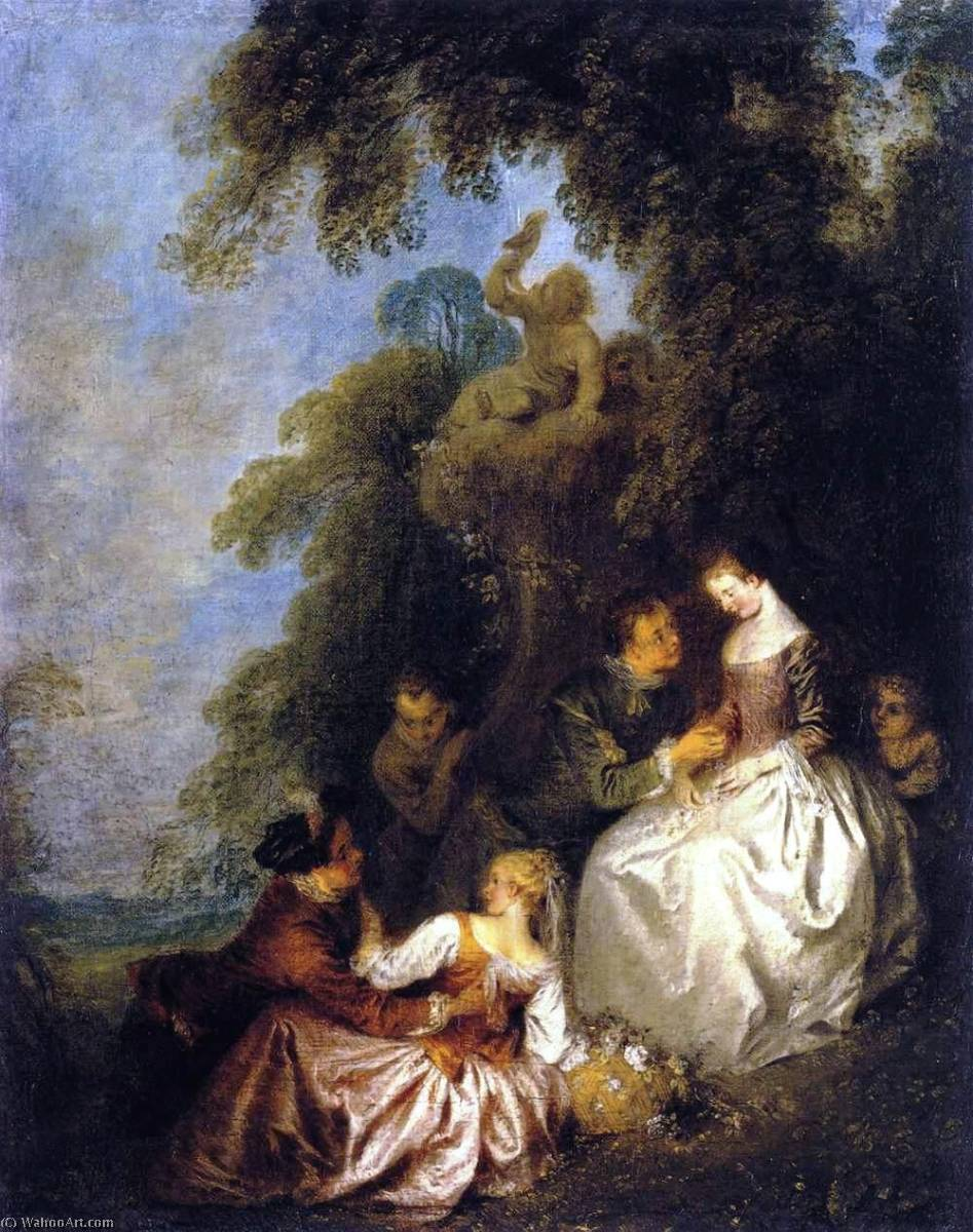 Galant conversation, 1723 by Jean-Baptiste Pater (1695-1736, France) | Art Reproduction | WahooArt.com