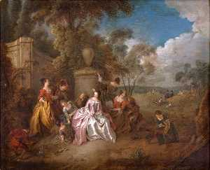 Jean-Baptiste Pater - Gathering in a Park
