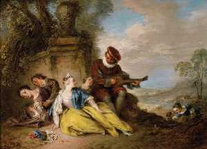 Jean-Baptiste Pater - The Musicians