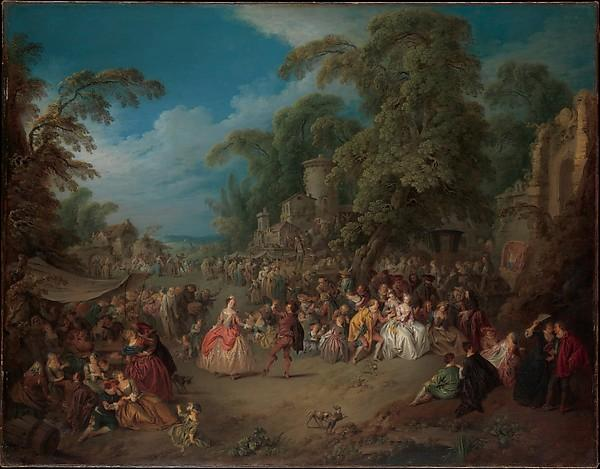 The Fair at Bezons, 1733 by Jean-Baptiste Pater (1695-1736, France) | Art Reproduction | WahooArt.com