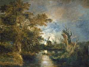 John Crome - Moonlight on the Yare