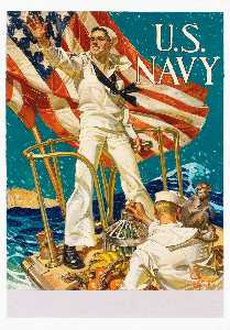 Joseph Christian Leyendecker - Hailing You for the U.S. Navy