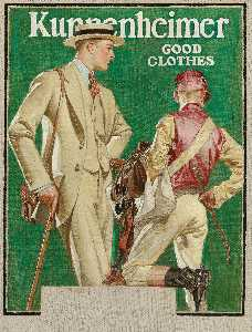 Joseph Christian Leyendecker - Kuppenheimer Good Clothes (Man and Jockey)