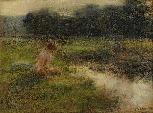 Léon Augustin L'hermitte - The Bather