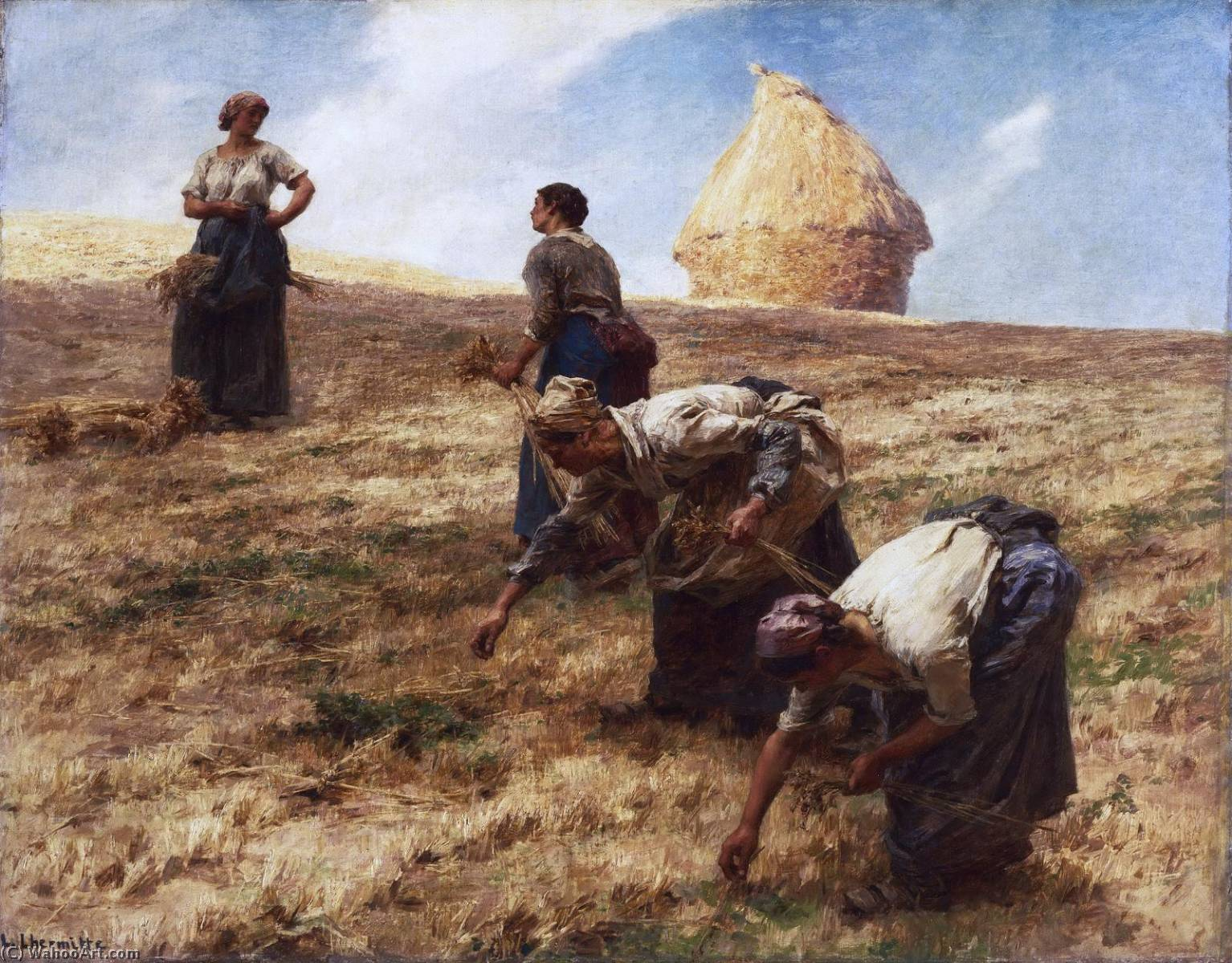 The Gleaners, 1887 by Léon Augustin L'hermitte (1844-1925, France) | Museum Art Reproductions Léon Augustin L'hermitte | WahooArt.com