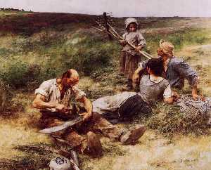 Léon Augustin L'hermitte - The Haymakers