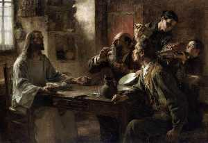 Léon Augustin L'hermitte - Supper at Emmaus