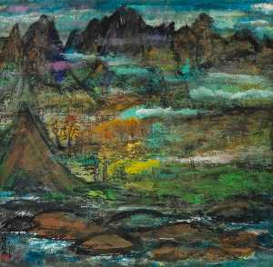 Lin Fengmian - SCENERY OF THE MOUNTAINS