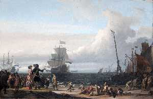 Ludolf Backhuysen - Dutch ships in the Roadstead of Texel
