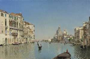 Martin Rico Y Ortega - A Gondola on the Grand Canal