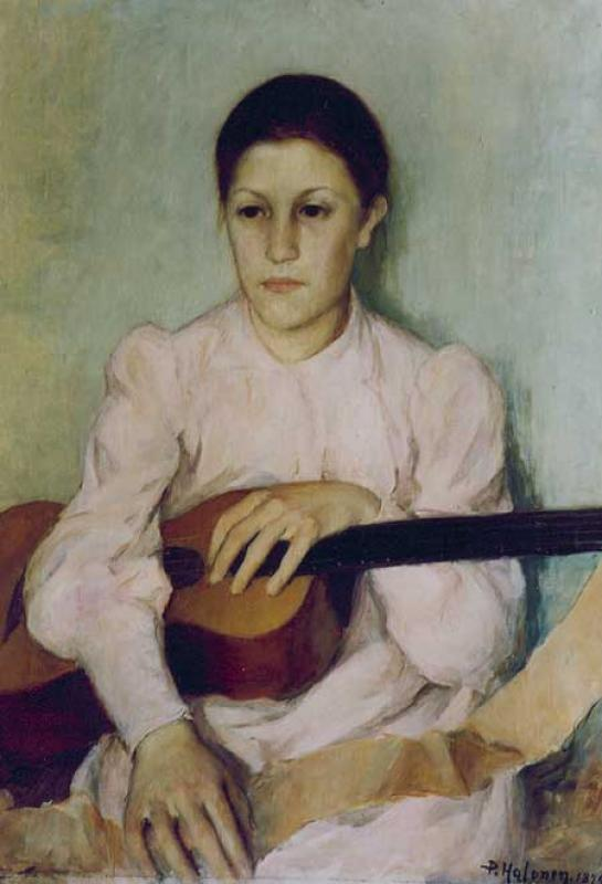 Guitar Player by Pekka Halonen (1865-1933) | Painting Copy | WahooArt.com
