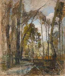 Tina Blau - Praterlandschaft nach dem Regen (The Prater Gardens after the Rain)