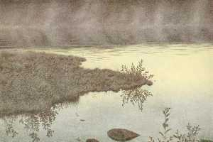 Theodor Kittelsen - Mist on the Water