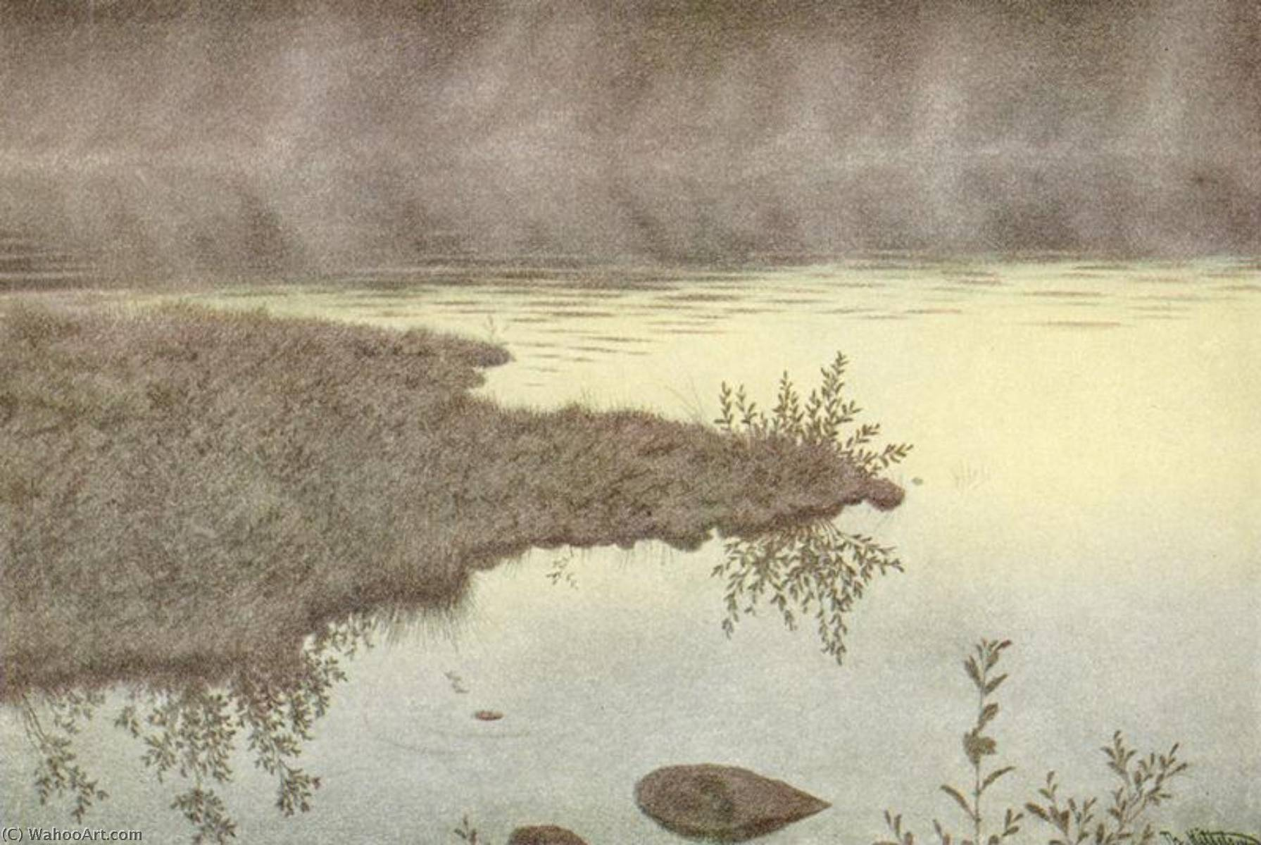 Mist on the Water by Theodor Kittelsen (1857-1914) | Art Reproduction | WahooArt.com