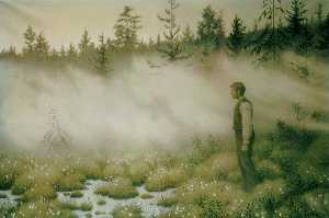 Theodor Kittelsen - The Fairy That Disappeared