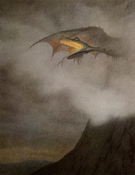 Dragon Awakens by Theodor Kittelsen (1857-1914)