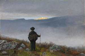 Theodor Kittelsen - Far, far away Soria Moria Palace shimmered like Gold