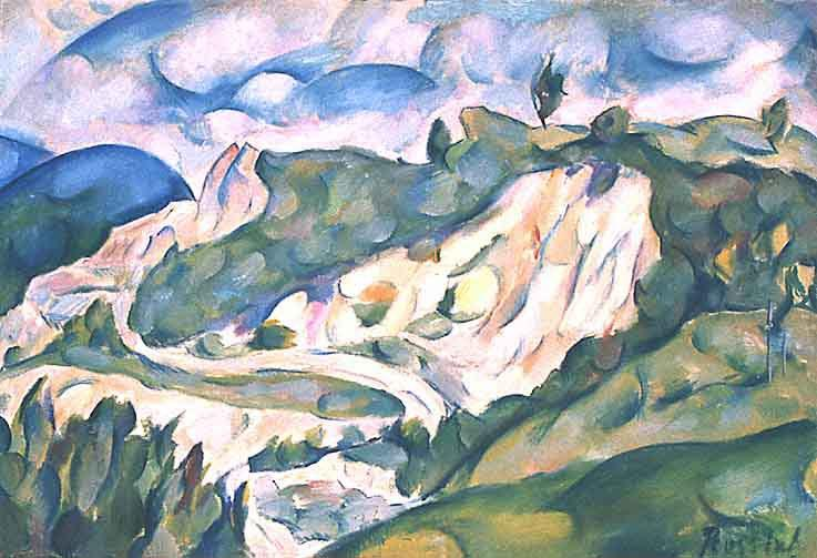 La carriere, Oil On Canvas by Vladimir Baranoff Rossiné (1888-1944)