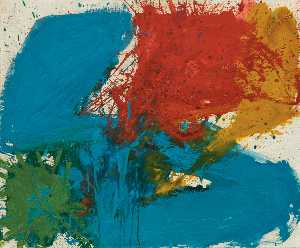 Walasse Ting - Sam Francis Sit in Jet