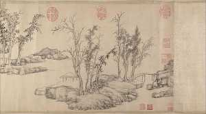Wen Zhengming - 明 文徵明 東林避暑圖 卷 Summer Retreat in the Eastern Grove