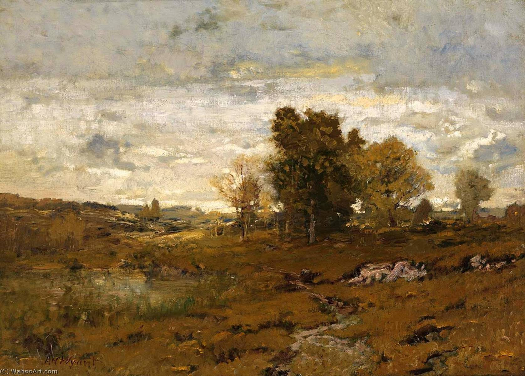 Autumn at Arkville by Alexander Helwig Wyant (1836-1892, United States) | Reproductions Alexander Helwig Wyant | WahooArt.com