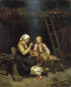 Adolph Tidemand - Grandmother's Tale