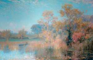 Alfred East - Lakeside Landscape