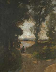 Alfred East - In the Thames Valley
