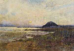 Alfred East - Holy Isle, Firth of Clyde