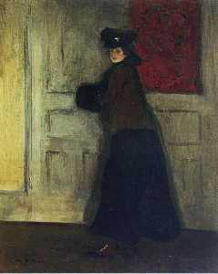 Alfred Henry Maurer - Lady with Muff