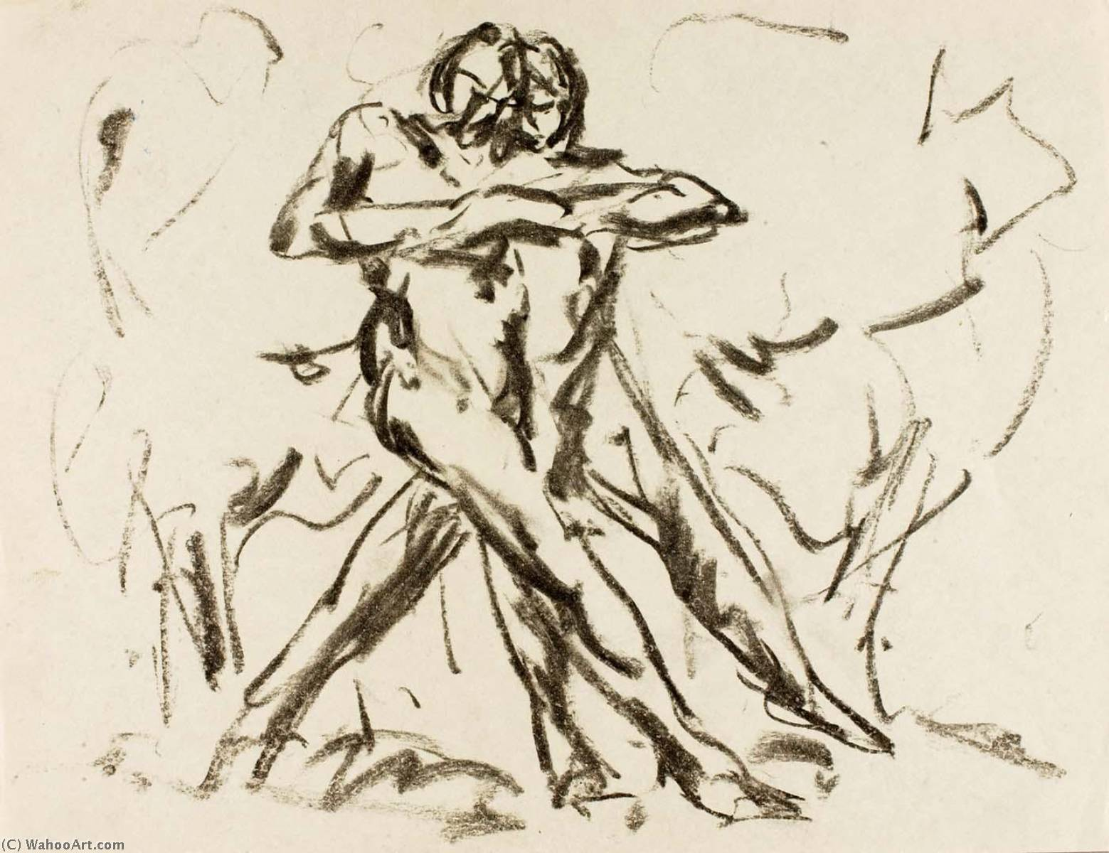 Nude Dancers by Alfred Henry Maurer (1868-1932, United States) | Paintings Reproductions Alfred Henry Maurer | WahooArt.com