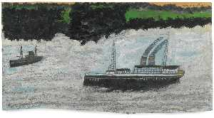Alfred Wallis - Steam Boat