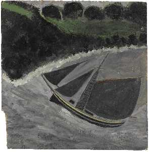 Alfred Wallis - A Fishing Boat off the Coast
