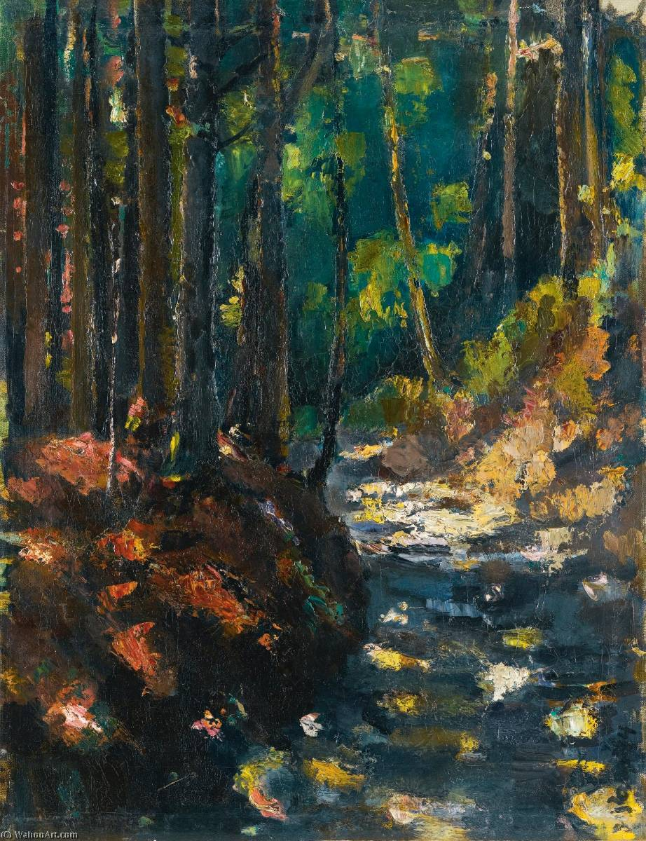 A Forest Path, 1914 by Anton Faistauer (1887-1930) | WahooArt.com