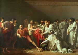 Anne Louis Girodet De Roussy Trioson - Hyppocrates Refusing the Presents of Artaxerces