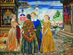 Boris Mikhaylovich Kustodiev - Merchants- Wives