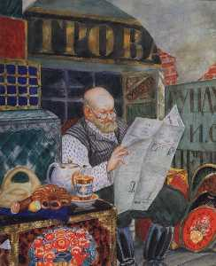 Boris Mikhailovich Kustodiev - The Merchant