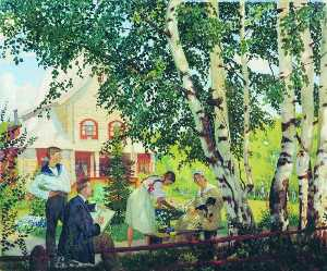 Boris Mikhaylovich Kustodiev - My House (also known as The Artist-s Family)