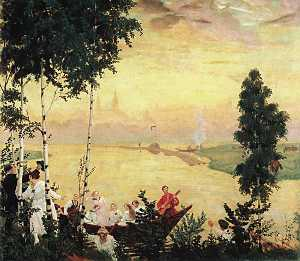 Boris Mikhaylovich Kustodiev - Evening Journey