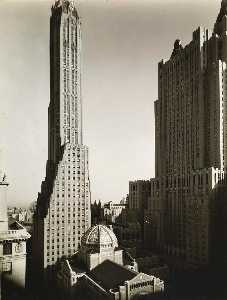 Berenice Abbott - St. Bartholomew-s, Waldorf Astoria, General Electric Building