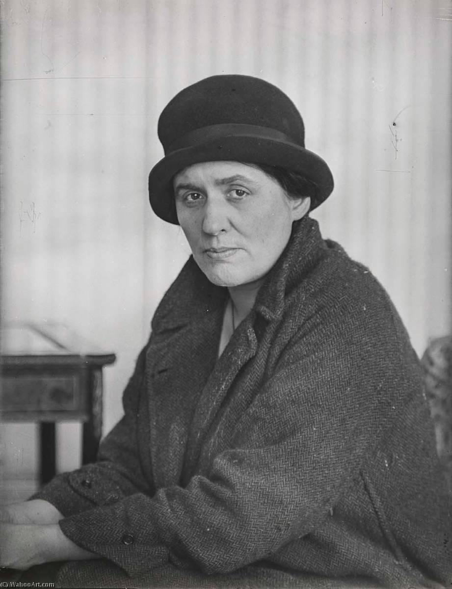 Portrait of Anna Wickham, Print by Berenice Abbott (1898-1991, United States)
