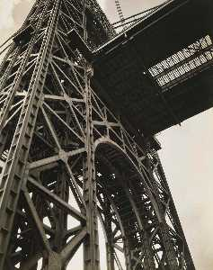 Berenice Abbott - George Washington Bridge, Riverside Drive and 179th Street, Manhattan