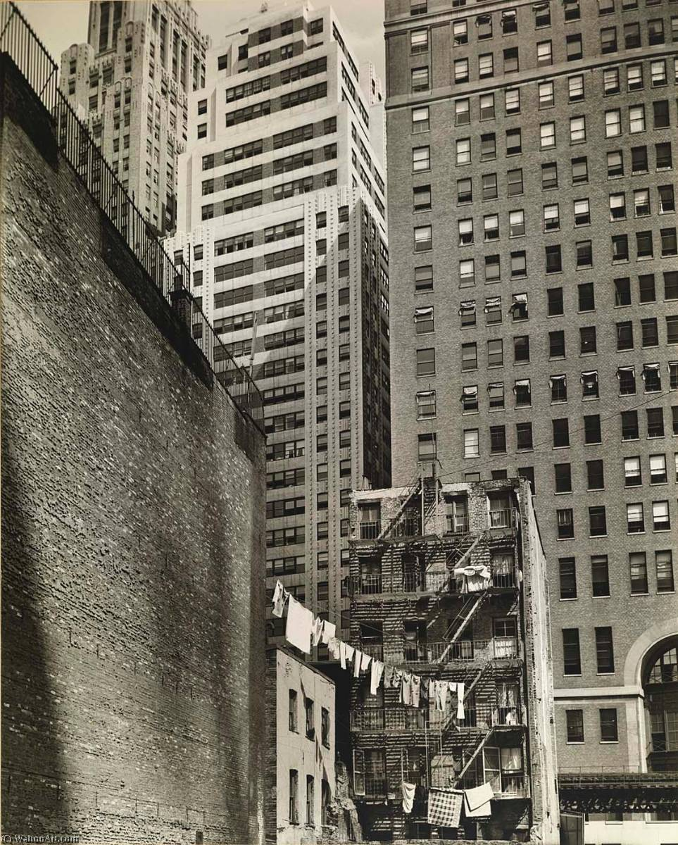 Washington Street no. 37 Manhattan, Print by Berenice Abbott (1898-1991, United States)