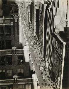 Berenice Abbott - Seventh Avenue Looking North from 35th Street Manhattan