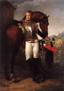 Baron Gros Antoine Jean - Portrait of the Second Lieutenant Charles Legrand