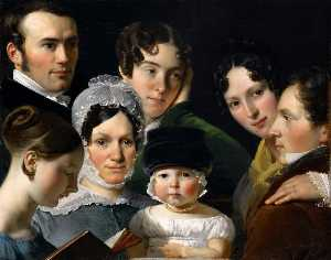 Claude Marie Paul Dubufe - The Dubufe Family in 1820