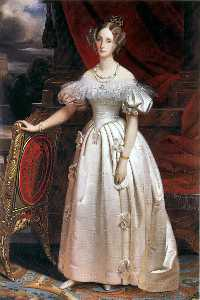 Claude Marie Paul Dubufe - Louise of Orléans, the first Queen of the Belgians