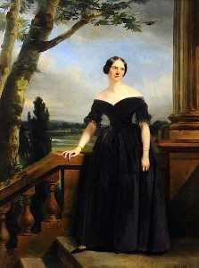 Claude Marie Paul Dubufe - Eliza Chichester, Sister to Lady Marianne Clifford Constable